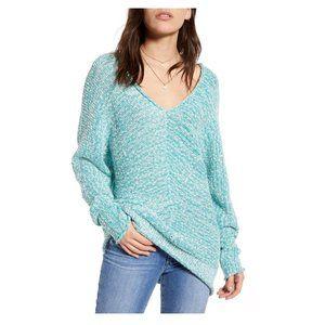 Free People Bright Lights V-Neck Knit Sweater